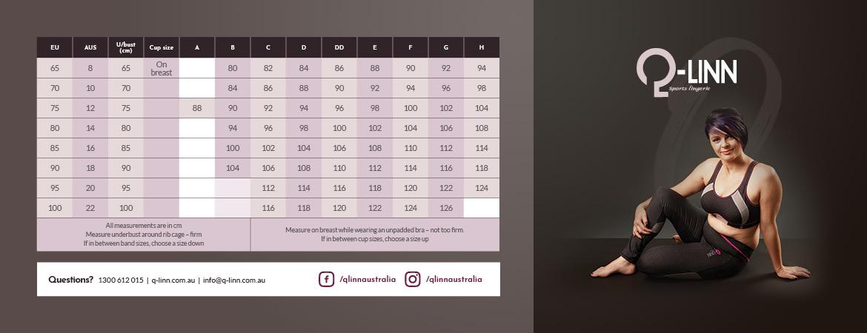 Q-LINN sizing chart